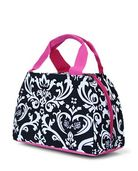 Lunch Bag-Monogrammed Stylish Lunch Purse Tote Damask Print w/ thermal lining