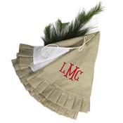 Monogrammed Ruffle Tree Skirt-Monogrammed Ruffle Christmas Tree Skirt
