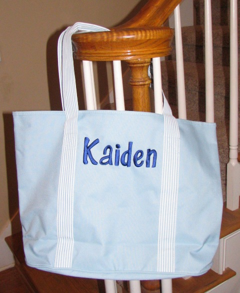 Canvas Tote-Monogrammed Canvas Tote