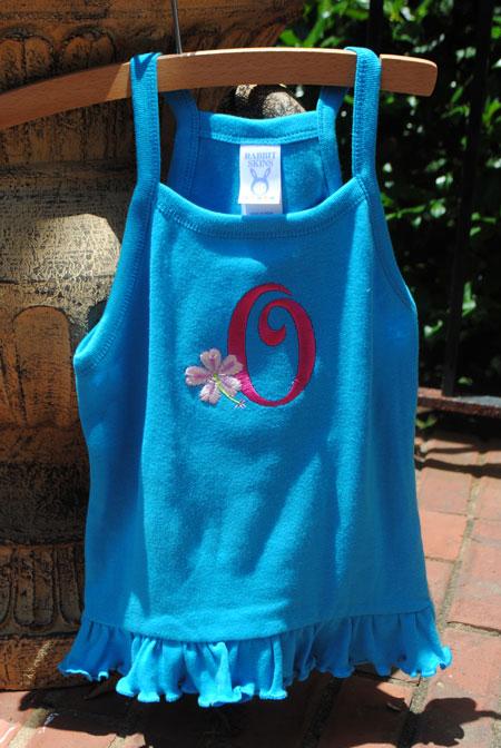 Toddler Ruffle Tank-ruffle cotton jersey embroidered toddler dress, toddler ruffle tank monogrammed