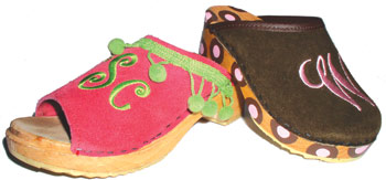 Monogrammed Clogs-monogrammed clogs, pink monogram, monogrammed sandals, as seen in o magazine july 2010