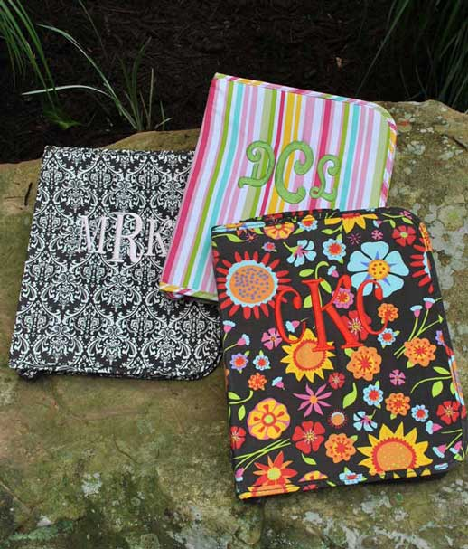 Notebook- zippered-Monogrammed Zippered Notebook